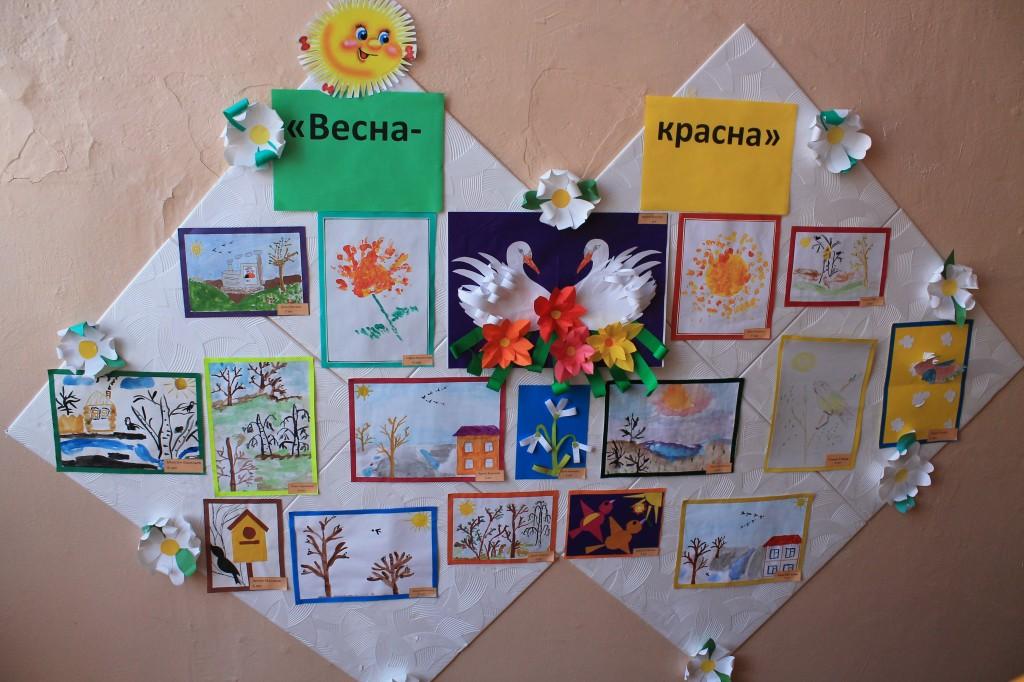 Детские работы о весне картинки